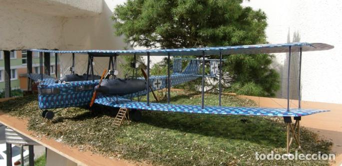 Maquetas: Zeppelin STAAKEN R.VI GERMAN WWI BOMBER 1:72 ROODEN RO 055 maqueta avión - Foto 13 - 194905441