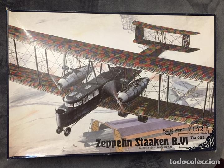 ZEPPELIN STAAKEN R.VI GERMAN WWI BOMBER 1:72 ROODEN RO 055 MAQUETA AVIÓN (Juguetes - Modelismo y Radio Control - Maquetas - Aviones y Helicópteros)