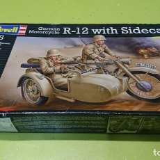 Maquetas: REVELL, R12 WITH SIDECAR GERMÁN MOTOR CICLE 1:35. Lote 194955160