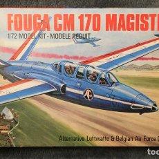Maquetas: FOUGA CM 170 MAGISTER 1:72 AIRFIX MAQUETA AVIÓN. Lote 194970591