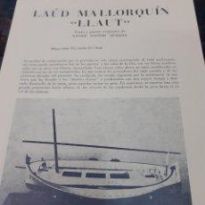 Maquetas: LOTE PLANOS BARCOS LA CARRACA.EDICIONES PASTOR.XAVIER PASTOR.ENVIO INCLUIDO. Lote 195087240