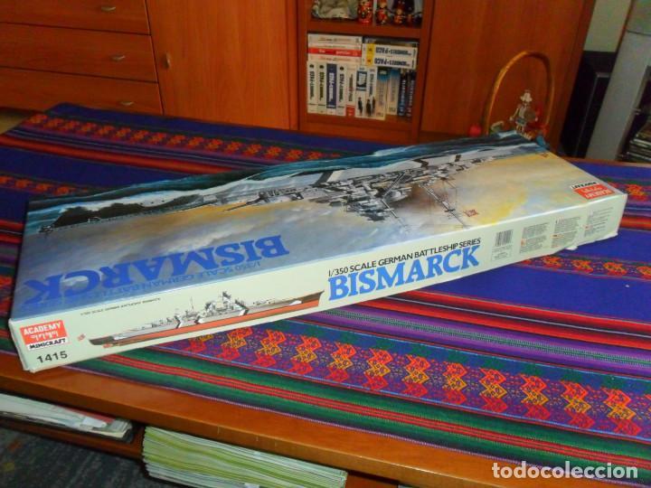 Maquetas: MAQUETA BARCO 1/350 SCALE GERMAN BATTLESHIP SERIES BISMARCK. ACADEMY MINICRAFT 1415. SIN USO. RARO - Foto 2 - 195087846