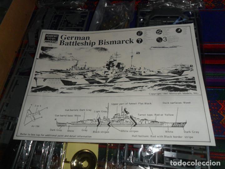 Maquetas: MAQUETA BARCO 1/350 SCALE GERMAN BATTLESHIP SERIES BISMARCK. ACADEMY MINICRAFT 1415. SIN USO. RARO - Foto 9 - 195087846