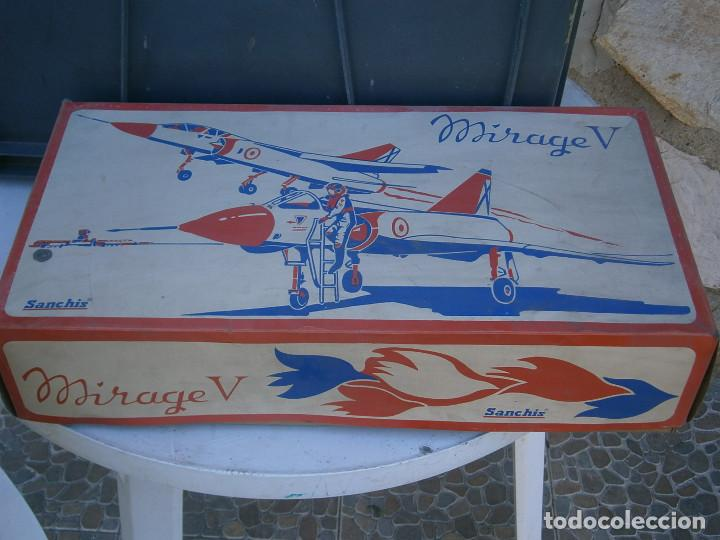 ¡¡¡¡CAJA VACIA¡¡ MIRAGE¡¡¡AVION MIRAGE V ¡¡¡CAJA VACIA AÑOS 60 70 (Juguetes - Modelismo y Radio Control - Maquetas - Aviones y Helicópteros)