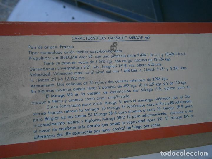 Maquetas: ¡¡¡¡caja vacia¡¡ mirage¡¡¡avion mirage V ¡¡¡CAJA VACIA AÑOS 60 70 - Foto 9 - 195109983
