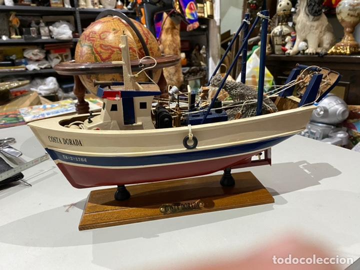 BARCO DE MADERA COSTA DORADA PARA RESTAURAR- VER LAS IMÁGENES (Juguetes - Modelismo y Radiocontrol - Maquetas - Barcos)