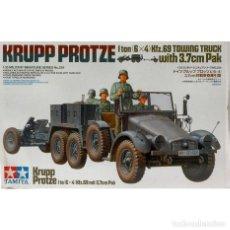 Maquetas: KRUPP PROTZE TOWING TRUCK W/3.7CM PAK TAMIYA 1/35 MAS FOTOGRABADO REDUARD 35585. Lote 195236323