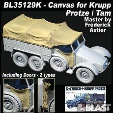 Maquetas: 6X4 LIGHT TRUCK KRUPP PROTZE TAMIYA 1/35 MAS COMPLEMENTO BLAST MODELS 35129K. Lote 195236912