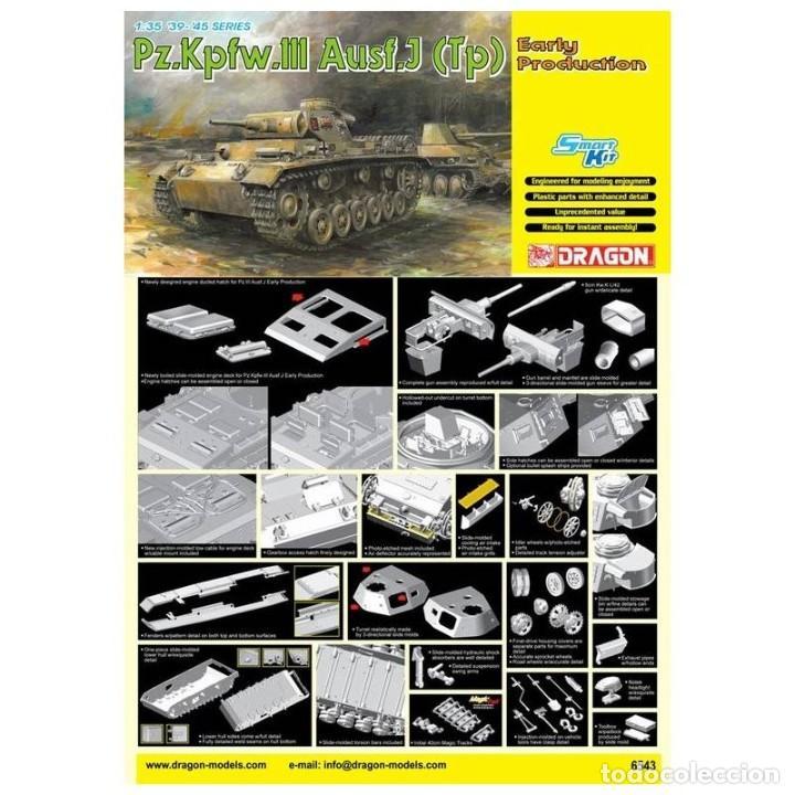 PZ.KPFW.III AUSF.J (TP) EARLY PRODUCTION DRAGON 1/35 MAS FOTOGRABADO EDUARD Y CAÑON J RUBIO (Juguetes - Modelismo y Radiocontrol - Maquetas - Militar)