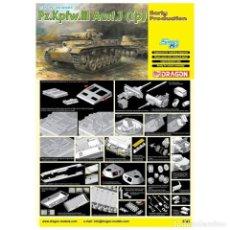 Maquetas: PZ.KPFW.III AUSF.J (TP) EARLY PRODUCTION DRAGON 1/35 MAS FOTOGRABADO EDUARD Y CAÑON J RUBIO. Lote 195239027