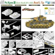 Maquetas: PZ.KPFW.III AUSF.L TP (SMART KIT) DRAGON 1/35 MAS FOTOGRABADO ROYAL MODEL Y CAÑON JORDI RUBIO. Lote 195240300