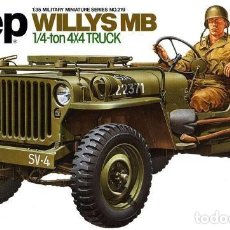 Maquetas: JEEP WILLYS MB 1/4TON 4X4 TRUCK 1/35 MAS MINOR AVC35000. Lote 195241458