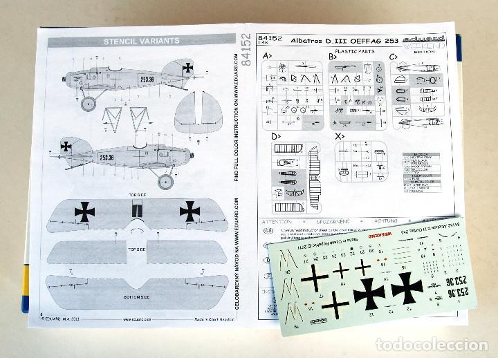 Maquetas: EDUARD Kit 1:48 (EDICIÓN 2012) • ALBATROS D.III Serie Oeffag 253 (Alemania, 1ª Guerra Mundial 1917) - Foto 2 - 195300420