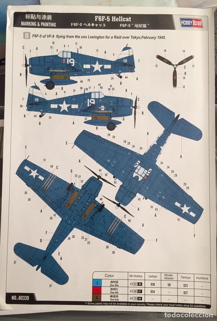 Maquetas: F6F-5 HELLCAT 1:48 HOBBY BOSS 80339 maqueta avión - Foto 3 - 195305683