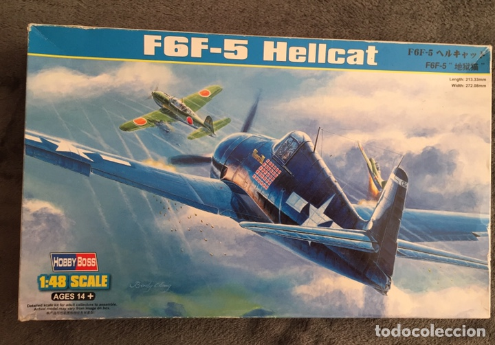 F6F-5 HELLCAT 1:48 HOBBY BOSS 80339 MAQUETA AVIÓN (Juguetes - Modelismo y Radio Control - Maquetas - Aviones y Helicópteros)