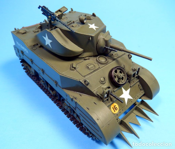 Maquetas: M5A1 STUART U.S. Light Tank 1:35 TAMIYA maqueta carro - Foto 7 - 195311066