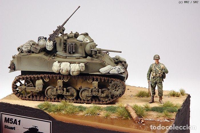 Maquetas: M5A1 STUART U.S. Light Tank 1:35 TAMIYA maqueta carro - Foto 9 - 195311066