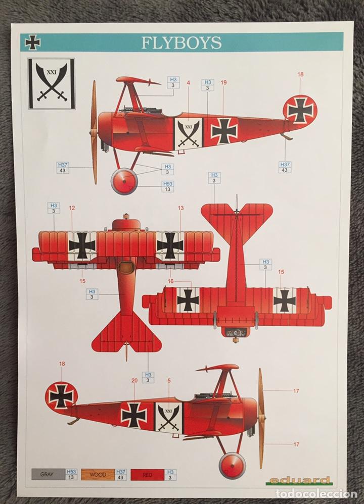 Maquetas: FOKKER Dr.I (Edición limitada película FLYBOYS) 1:72 EDUARD 2103 maqueta avión WWI - Foto 3 - 195356062