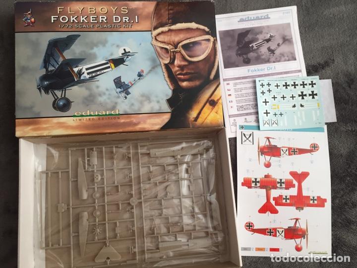 Maquetas: FOKKER Dr.I (Edición limitada película FLYBOYS) 1:72 EDUARD 2103 maqueta avión WWI - Foto 4 - 195356062