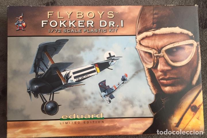 FOKKER DR.I (EDICIÓN LIMITADA PELÍCULA FLYBOYS) 1:72 EDUARD 2103 MAQUETA AVIÓN WWI (Juguetes - Modelismo y Radio Control - Maquetas - Aviones y Helicópteros)