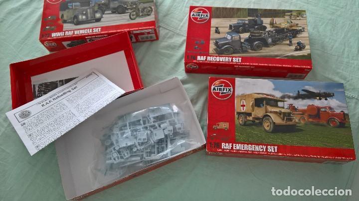 Maquetas: Batalla de Inglaterra..Airfix 1.72..RAF vehicles set , refuelling,recovery,emergency. - Foto 5 - 195372476