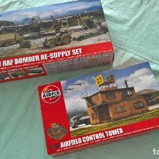 Maquetas: AIRFIX..BATALLA DE INGLATERRA..CONTROL TOWER , RAF BOMBER RE SUPPLY SET. Lote 195378392