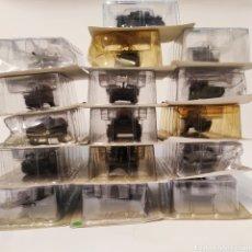 Maquetas: 16 CARROS DE COMBATE TANQUES METAL - ANDREA MINIATURES - MAQUETA SALVAT. Lote 195386423