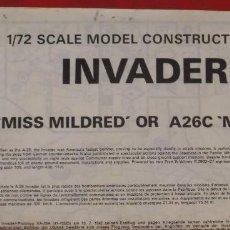 Maquetas: INSTRUCCIONES DE MONTAJE DEL DOUGLAS A-26 INVADER DE AIRFIXESCALA 1/72. Lote 195405805