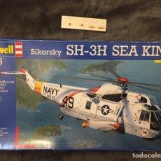 Maquetas: SIKORSKY SH-3H SEA KING (CALCAS ESPAÑOLAS) 1:48 REVELL (MOLDE HASEGAWA) 04466 MAQUETA HELICOPTERO AV. Lote 195521050
