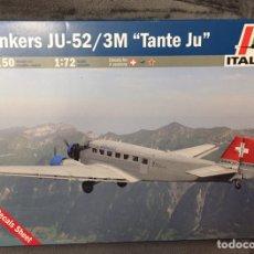 Maquetas: JUNKERS JU-52 3M TANTE JU 1:72 ITALERI 150 MAQUETA AVIÓN JU-AIR AEROFLOT LUFTHANSA SWISS AIR. Lote 195537700