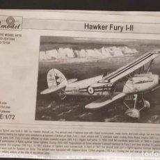 Maquetas: INSTRUCCIONES DE MONTAJE DEL HAWKER FURY I-II DE AMODEL ESCALA 1/72. Lote 195538558