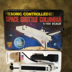 Maquetas: SPACE SHUTTLE COLUMBIA CONTROLADO POR SONIDO MADE IN HONG KONG. Lote 195626572