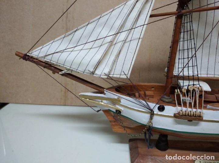 Maquetas: Maqueta barco de madera Letoile. Medidas largo 49cm x 45cm altura. - Foto 2 - 195717786