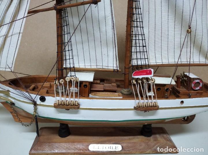 Maquetas: Maqueta barco de madera Letoile. Medidas largo 49cm x 45cm altura. - Foto 3 - 195717786