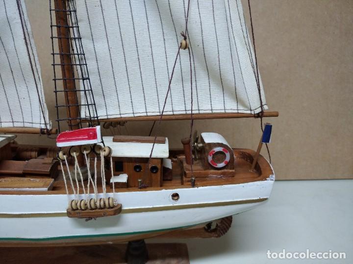 Maquetas: Maqueta barco de madera Letoile. Medidas largo 49cm x 45cm altura. - Foto 4 - 195717786