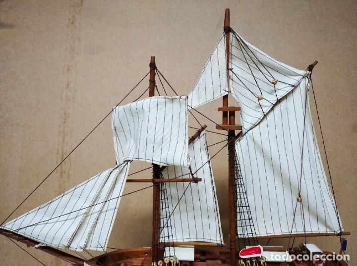 Maquetas: Maqueta barco de madera Letoile. Medidas largo 49cm x 45cm altura. - Foto 5 - 195717786
