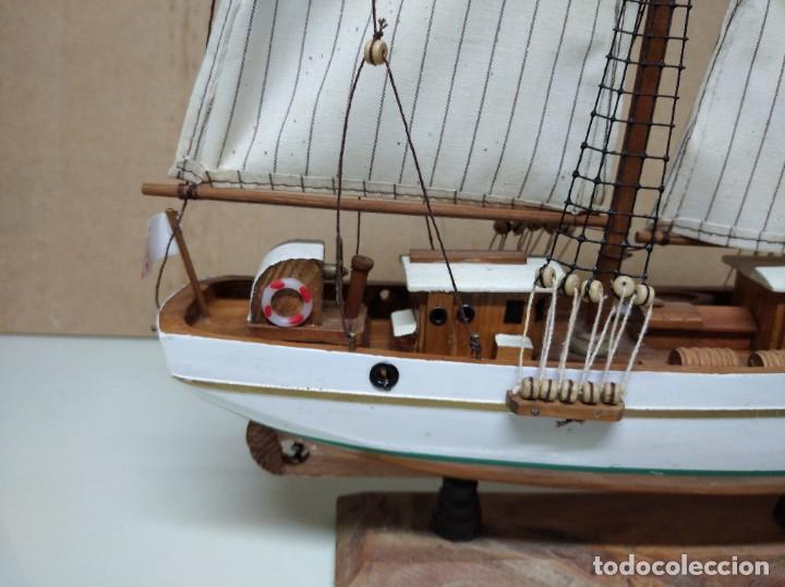 Maquetas: Maqueta barco de madera Letoile. Medidas largo 49cm x 45cm altura. - Foto 6 - 195717786