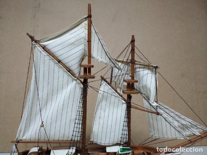 Maquetas: Maqueta barco de madera Letoile. Medidas largo 49cm x 45cm altura. - Foto 9 - 195717786