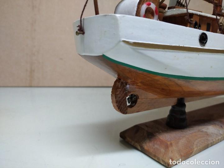 Maquetas: Maqueta barco de madera Letoile. Medidas largo 49cm x 45cm altura. - Foto 10 - 195717786