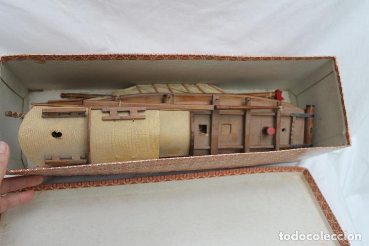 Maquetas: ANTIGUO BARCO CHINO AÑOS 50, WOODEN JUNK MODEL, CON SU CAJA ORIGINAL - Foto 2 - 196062492