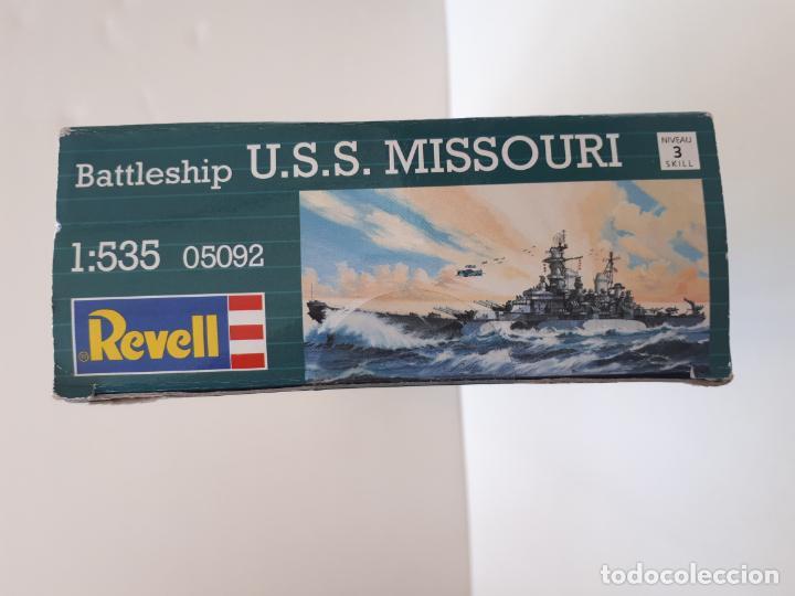 Maquetas: MAQUETA BARCO MISSOURI BATTLESHIP USS ESCALA 1/ 535 50,2 CM REF 05092 REVELL GUERRA NUEVA - Foto 3 - 196984782
