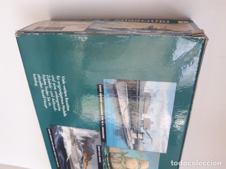 Maquetas: MAQUETA BARCO MISSOURI BATTLESHIP USS ESCALA 1/ 535 50,2 CM REF 05092 REVELL GUERRA NUEVA - Foto 4 - 196984782
