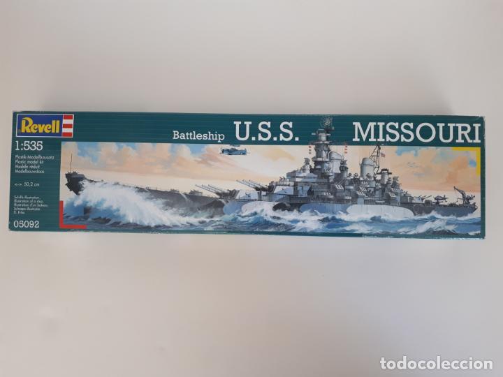 MAQUETA BARCO MISSOURI BATTLESHIP USS ESCALA 1/ 535 50,2 CM REF 05092 REVELL GUERRA NUEVA (Juguetes - Modelismo y Radiocontrol - Maquetas - Barcos)
