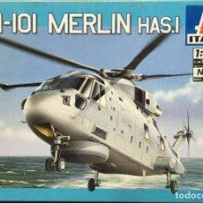 Maquetas: ITALERI 1/72 EH-101 MERLIN HAS.1 MODELO RARO - CAJA ORIGINAL, PRECINTADO. Lote 197337200