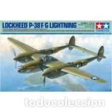 Maquettes: TAMIYA - LOCKHEED P-38 F/G LIGHTNING 1/48 61120. Lote 198228207