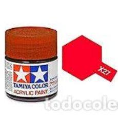 Maquetas: TAMIYA - PINTURA ROJO TRANSPARENTE X27 . Lote 198243890
