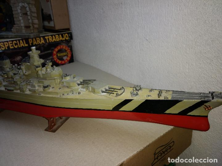 Maquetas: Maqueta de barco o buque de guerra, realizado en plástico. 59 cm de largo - Foto 3 - 198475617