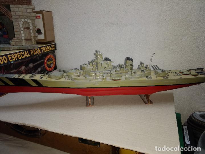 Maquetas: Maqueta de barco o buque de guerra, realizado en plástico. 59 cm de largo - Foto 4 - 198475617