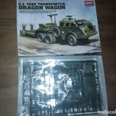 Maquetas: ACADEMY, U.S TANK TRANSPORTER , DRAGON WAGON. 1/72. Lote 199625115