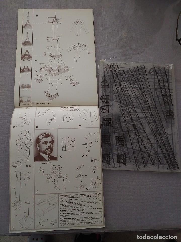 Maquetas: LIBRO MAQUETA CONSTRUCCIÓN DE LA TORRE EIFFEL. AÑOS 80. ALTURA CONSTRUIDA 65 CM. - Foto 3 - 201012122
